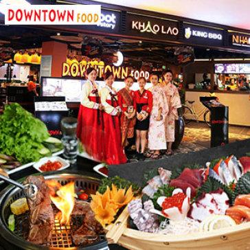 Downtown Food - Hệ Thống 7 Nhà Hàng Nổi Tiếng: King BBQ, Hotpot Story, Khao Lao, Sushi Kei... Áp Dụng Toàn Menu Không Giới Hạn Voucher