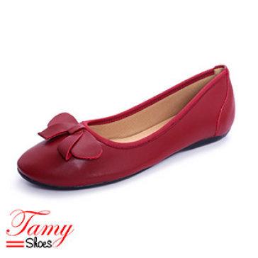 Giày Búp Bê Nơ Chữ V Tamy Shoes 07