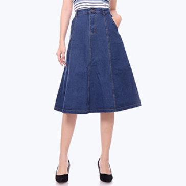 Váy Jean Xòe Thời Trang