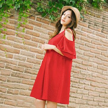 Đầm Oversize Tay Đôi Xòe