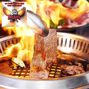 Buffet Tối Gần 70 Món Bò Mỹ Nướng, Hải Sản Và Lẩu Tại Bò Bay BBQ