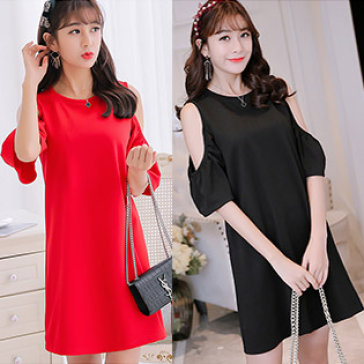 Đầm Oversize Cut Out Vai