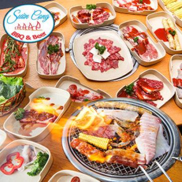 Buffet Tối BBQ Hải Sản, Bò Mỹ & Lẩu Hơn 40 Món Không Giới Hạn Tại Sườn Cọng BBQ - Nướng & Lẩu