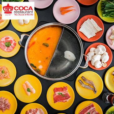 Buffet Trưa/ Tối Lẩu Băng Chuyền Hơn 40 Món Bò Mỹ, Hải Sản – Miễn Phí Buffet Nước Uống Tại Nhà Hàng Coca Suki