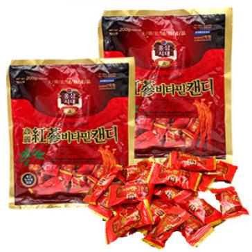Combo 02 Gói Kẹo Hồng Sâm Vitamin Hàn Quốc 200Gr