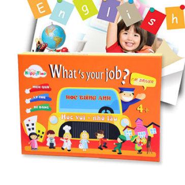Bộ Trò Chơi Giáo Dục What's Your Job Giúp Bé Ghi Nhớ Từ Vựng Tiếng Anh – Woody