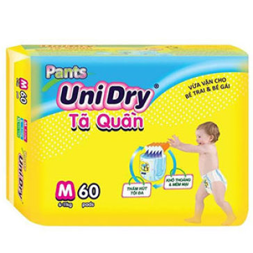 Combo 2 Gói Tã Quần Unidry Size M60 ( Cho Bé 6-11 Kg)