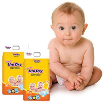 Combo 2 Gói Tã Dán Unidry Size S46 (Cho Bé Từ 3-7 Kg)