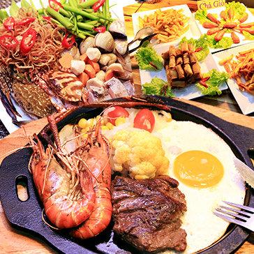 Buffet 35 Món + Combo Bittet Hoàng Gia Hải Sản/ Lẩu Thái Tại Nhà Hàng Hoàng Gia Qúy Tộc