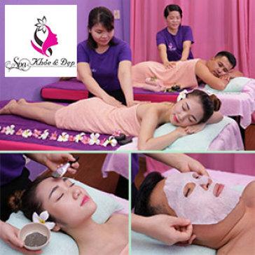 Couple Nam Nữ (100'): Massage Body Đá Nóng Toàn Thân + Ấn Huyệt Nhật Bản + Massage Foot + Chăm Sóc Da Mặt+ Ngâm Chân Muối Gừng