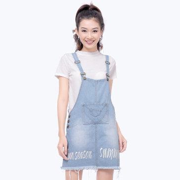 Váy Yếm Jean Thời Trang 2017