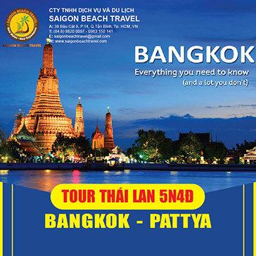 Tour Thái Lan 5N4Đ Bangkok – Pattaya Siêu Rẻ – Chương Trình Mới Lạ Hấp Dẫn