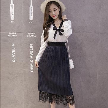 Chân Váy Midi Korea 2 Trong 1