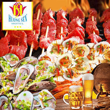 Buffet Tối Hơn 50 Món Tại KS Hương Sen 3*- Tặng Buffet Bia - Áp Dụng Lễ