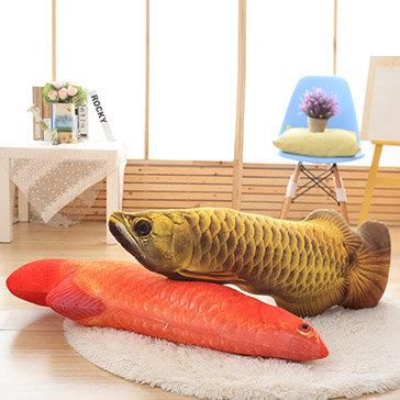 Gối Cá Rồng 3D 60CM (Kim Long Và Huyết Long)
