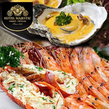 Buffet Tôm Hùm - Lẩu & Nướng Hải Sản Tại Khách Sạn 5* Majestic Sài Gòn