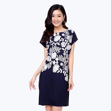 Đầm Suông In Hoa