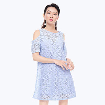 Đầm Ren Cut Out Vai Style