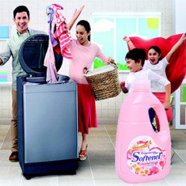 Nước Xả Vải Nhật Bản Fragrance Plus Softener Hương Hoa Hồng 2 Lít