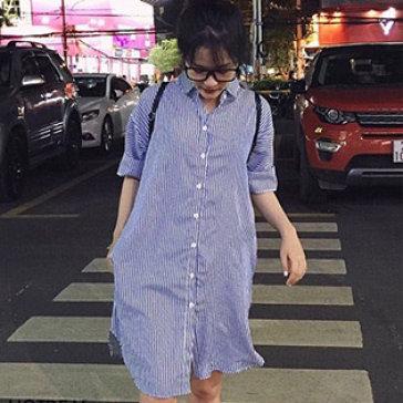 Đầm Suông Sơ Mi Street Styles