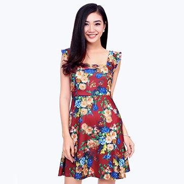 Đầm Xòe Hoa Thời Trang