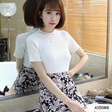 Áo Len Dệt Kim Ngắn Tay Fashion