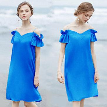 Đầm Suông Nhún Tay Hana