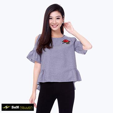 Áo Kiểu Tay Loe Thêu Hoa-41601-TH Sơn Nguyễn