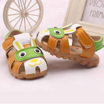 Giày Sandal Cú Mèo Đế Mềm Có Đèn Cho Bé Trai (2 Màu)