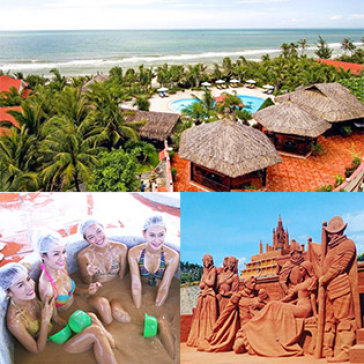 Tour Phan Thiết - Mũi Né 3N2Đ - Nghỉ Resort Ocean Star 4*- Lâu Đài Rượu Vang - Trung Tâm Bùn Khoáng - Công Viên Tượng Cát Forgotten Land - Bàu Trắng