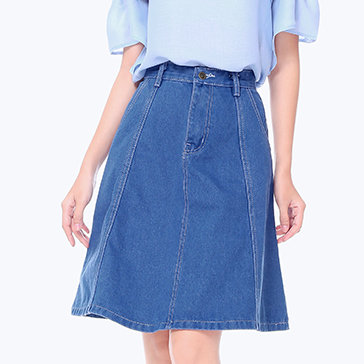 Chân Váy Jean Xòe Fashion
