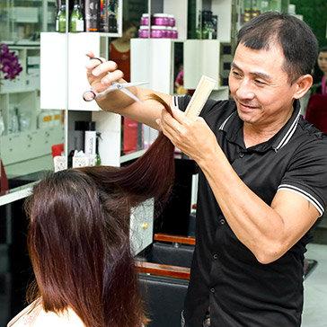 Trọn Gói Làm Tóc Cao Cấp Uốn/ Duỗi/ Nhuộm/ Bấm Tự Chọn Tại Minh Thư Hair Salon & Spa