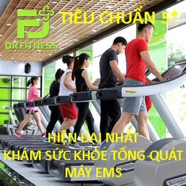 Dr. Fitness - Hiện Đại Nhất Sài Gòn - 30 Ngày Tập Gym, Yoga, Máy EMS & Khám Sức Khỏe Tổng Quát
