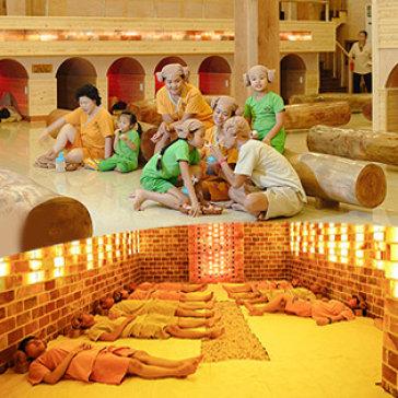 Trọn Gói Xông Hơi Thải Độc Jjim Jil Bang Hàn Quốc + 1 Trong 3 DV Massage Độc Nhất Vô Nhị Tại Tphcm - Golden Lotus Healing Spa World 5*