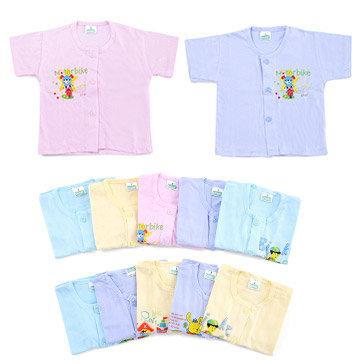 Bộ 5 Áo Sơ Sinh Tay Ngắn Màu Cho Bé 0 - 3 Tháng (Size 1)