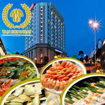 Buffet Trưa Hải Sản Hơn 60 Món Tại Tân Sơn Nhất Hotel 5*