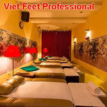 Spa Viet Feet Professional Foot Massage - Massage Foot + Body + Đá Nóng + Ngâm Chân Thảo Dược (70 Phút)