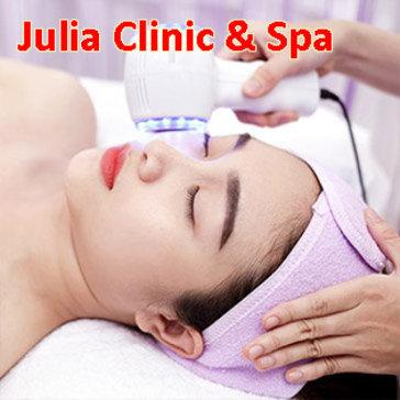 Julia Clinic & Spa - Chăm Sóc Da Mặt + Chạy Vitamin C/ Điều Trị Mụn, Thâm/ Hút Chì