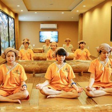 Combo Jjim Jil Bang + Chà Da + 1 Phần Nước Mơ/Nước Gạo Hàn Quốc - Golden Lotus Healing Spa World Q.3