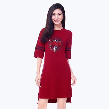 Đầm Dạo Phố Đính Hoa Style
