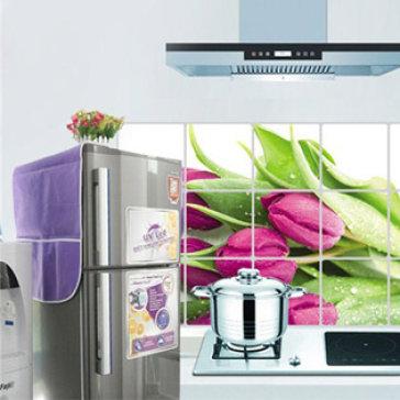 Combo 1 Tấm Phủ Tủ Lạnh Và 1 Miếng Giấy Dán Bếp