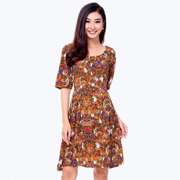 Đầm Hoa Vintage Ngày Thu
