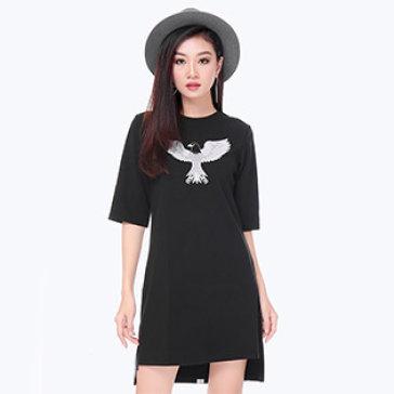 Đầm Suông Lệch Tà Fashion