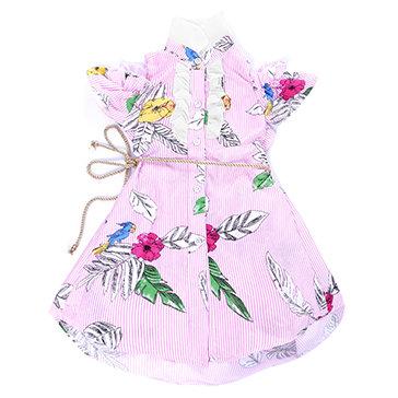 Đầm Buộc Dây Dễ Thương Cho Bé Gái