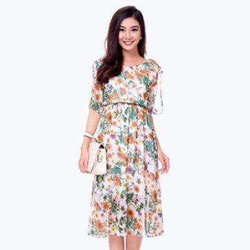 Đầm Hoa Myta Vintage