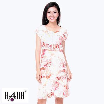 Đầm Hoa Mùa Thu 02 Túi Giả - Thời Trang Hạnh
