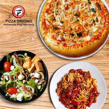 Áp Dụng Toàn Menu Pizza, Pasta – Salad Và Món Ăn Kèm Tại Pizza Origino