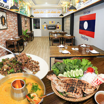 Combo Tom Yum Kung + Cá Nướng Muối Lào + Lạp Vịt + Xôi Nếp Lào, Dành Cho 04 Người - Nhà Hàng Lào Saigon