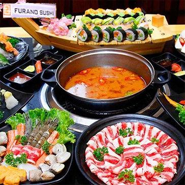 Buffet Trưa/Tối Lẩu Nhật & Sushi Không Giới Hạn - Furano Sushi