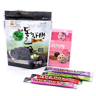 Combo Rong Biển, Thịt Gà Và Hạt Dẻ Trộn Cơm Bebecook + Rong Biển Cho Bé + Tặng 4 Kem Tuyết